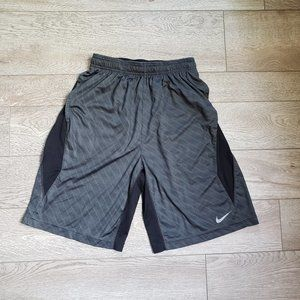 Nike Dri-Fit Silver and Black Shorts Size Small